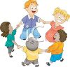 Kids Playing Ring-Around-the-Rosy clipart
