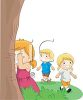 Kids Playing Hide and Seek clipart