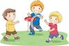 Boys Playing Frisbee clipart