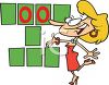Cartoon Game Show Hostess clipart