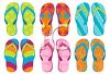 Colorful Flip Flops clipart