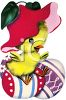 Easter Chick Sitting on an Easter Egg clipart