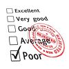 Employee Performance Review Marked Poor clipart