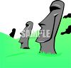 Easter Island Heads clipart