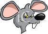 Evil Looking Rat with Yellow Eyes clipart