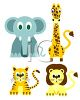 Cute Baby Animals from the Jungle clipart