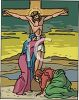 Christ Being Tended on the Cross clipart