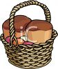 Basket of Passover Cakes clipart