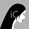 Black and White Profile of a Woman clipart