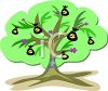 Cartoon of a Whimsical Style Money Tree clipart