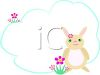 Easter Bunny in a Dream Bubble clipart
