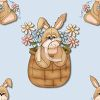 Country Style Easter Background with an Easter Bunny clipart