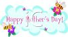 Whimsical Mother's Day Banner with Honeybees clipart