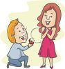 Boyfriend Proposing Marriage to His Girlfriend clipart