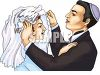 Jewish Bride and Groom  clipart