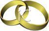 Intertwined Gold Wedding Rings clipart