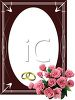 Wedding Frame with Roses clipart