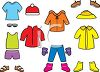Collection of Seasonal Paper Doll Clothes clipart