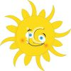 Cute Sun with a Smiling Face clipart