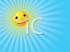 Happy Animated Sun Background with Sunbeams clipart