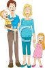 Young Family Expecting a New Baby clipart