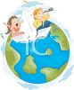 Imagination-Kids Exploring the World in a Boat clipart