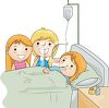 Kids Visiting a Sick Friend in the Hospital clipart