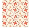 Vintage Butterfly Design Wallpaper clipart