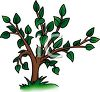 Leafy Cartoon Tree clipart