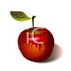 Realistic Poisoned Apple clipart