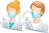 Occupation Avatar for Surgical Assistant clipart