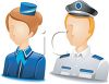 Occupation Avatar for Flight Attendant and Pilot clipart
