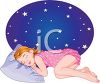 Little Girl Sleeping Peacefully clipart