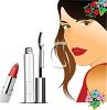 Pretty Model with Cosmetics  clipart