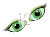 Pretty Green Eyes with Long Lashes clipart