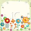 Cute Cartoon Flowers and Insects Background clipart
