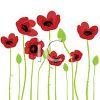 Poppies Done in a Watercolor Style clipart