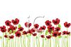 Field of Poppies in Watercolor clipart
