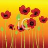 Painted Poppies at Sunset clipart