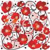 Poppy Flowers Background Pattern clipart