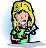 Blond Girl Brushing Her Teeth clipart