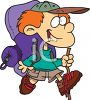 Boy Going on a Backpacking Trip clipart