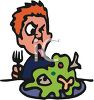 Boy Making a Face at Yucky Food clipart