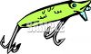 Minnow Shaped Fishing Lure clipart