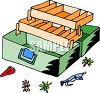 Tackle Box with Lures clipart