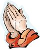 Hands Praying clipart
