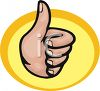 Hand Making a Thumbs Up Gesture clipart