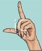 Woman's Hand Pointing clipart