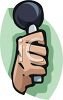 Hand Holding a Microphone clipart