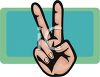 Hands Making a Peace Sign Gesture clipart